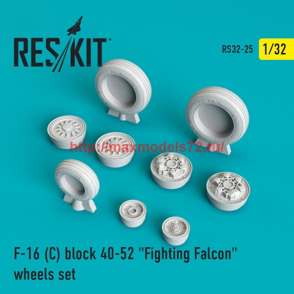 "RS32-0025   F-16 (C) block 40-52 ""Fighting Falcon"" wheels set (thumb45114)"