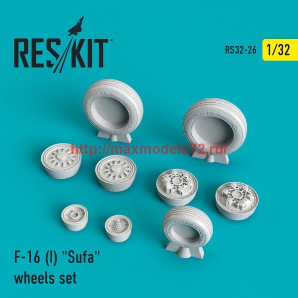 """RS32-0026   F-16 (I) """"Sufa"""" wheels set (thumb45116)"""