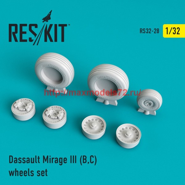 RS32-0028   Mirage III (B,C) wheels set (thumb45118)