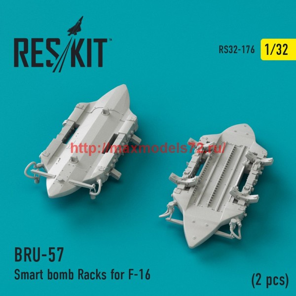 RS32-0176   BRU-57 Smart bomb Racks for F-16 (2 pcs) (thumb45157)
