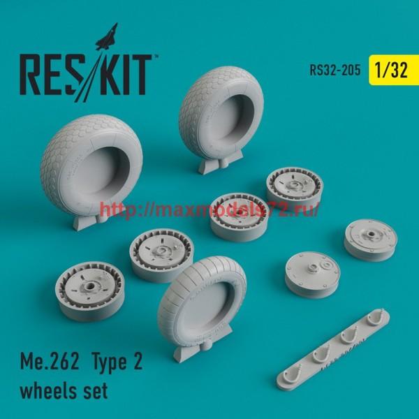 RS32-0205   Me.262 Type 2 wheels set (thumb45167)