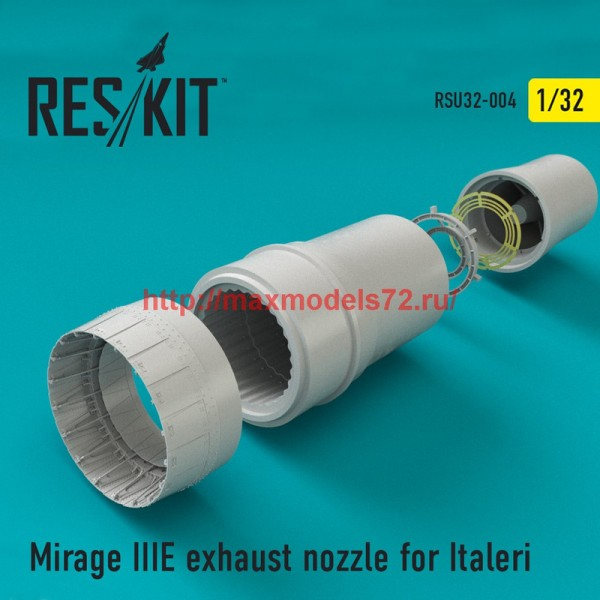 RSU32-0004   Mirage IIIE exhaust nozzle for Italeri (thumb45174)