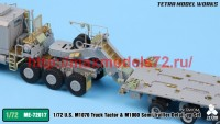 TetraME-72017   1/72 US M1070 & M1000 Trailer Detail-up Set (for Takom) (attach3 47945)