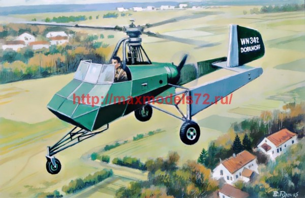 AMP72006   Doblhoff WNF 342 German WW II helicopter (thumb47439)
