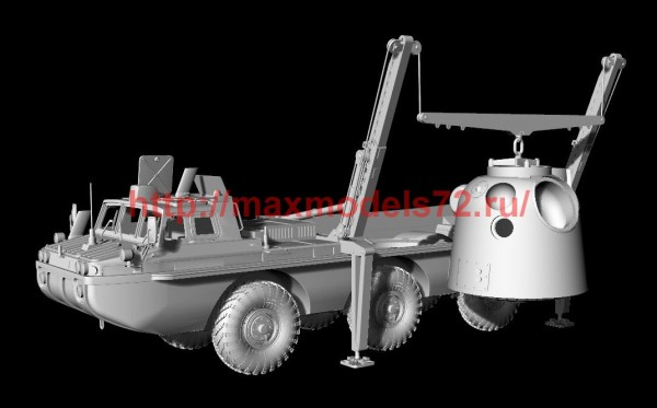 AMinA133456   Советский трехосный полноприводный автомобиль (пассажирский и грузовой). Шнекороторный снегоболотоход. Посадочный модуль. (thumb52126)