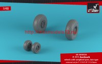 AR AW48320   1/48 F-111 Aardvark late type wheels w/ weighted tires (attach1 47758)