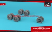 AR AW72418   1/72 BAe «Nimrod» wheels w/ weighted tires (attach1 47765)