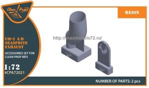 CPA72021   UH-2 A/B SEASPRITE resin exhaust (thumb48219)