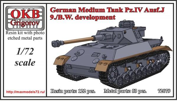 OKBV72079   German Medium Tank Pz.IV Ausf.J, 9./B.W. development (thumb48330)