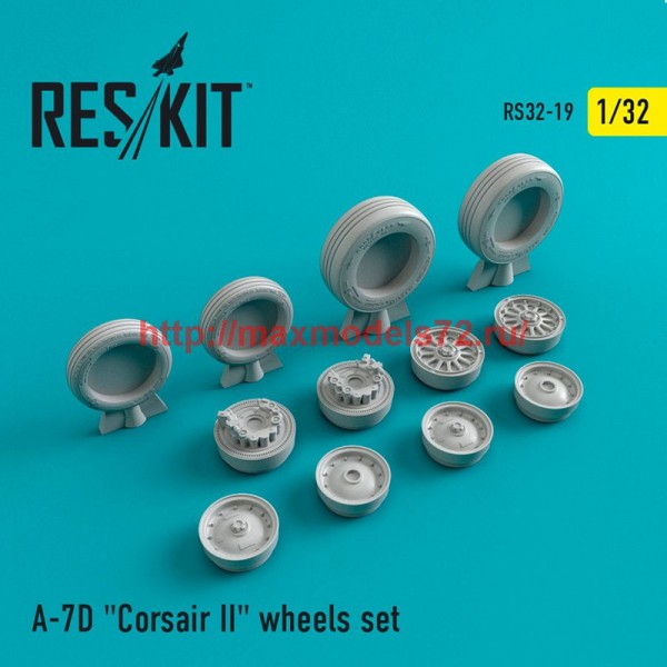 """RS32-0019   A-7 """"Corsair II""""D wheels set (thumb47549)"""