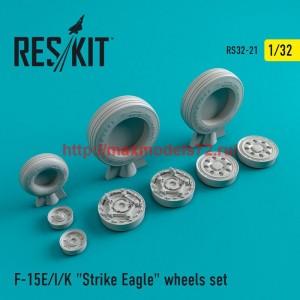 """RS32-0021   F-15 (E/I/K) """"Strike Eagle"""" wheels set (thumb47553)"""