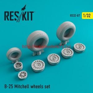 RS32-0087   B-25 Mitchell wheels set (thumb47565)