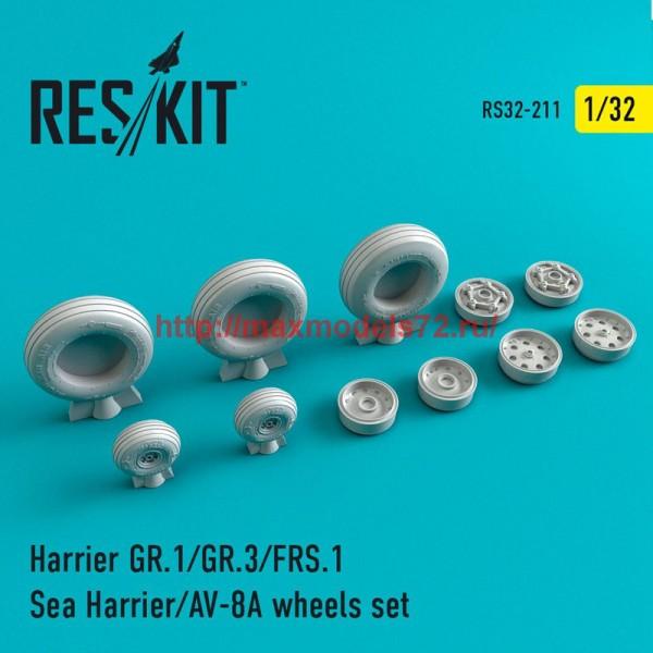 RS32-0211   Harrier GR.1/GR.3/AV-8A/FRS.1/Sea Harrier  wheels set (thumb47587)