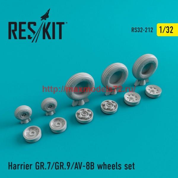 RS32-0212   Harrier GR.7/GR.9/AV-8B wheels set (thumb47589)