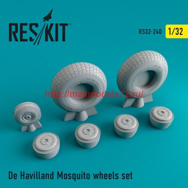 RS32-0240   De Havilland Mosquito wheels set (thumb47591)