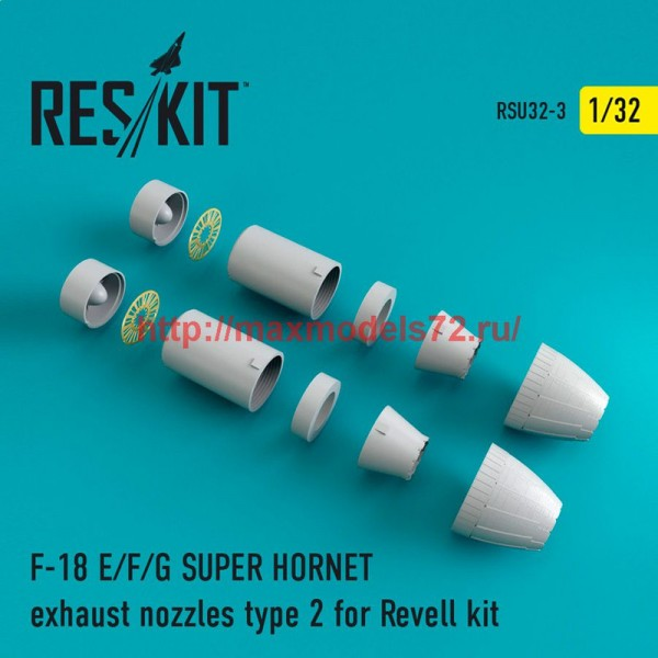 RSU32-0003   F-18 SUPER HORNET Type 2 exhaust nozzles for Revell (thumb47597)