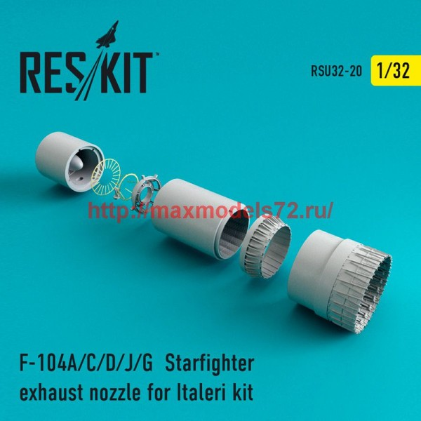 RSU32-020   F-104 Starfighter (A/C/D/J/G) exhaust nozzle for Italeri Kit (thumb47603)
