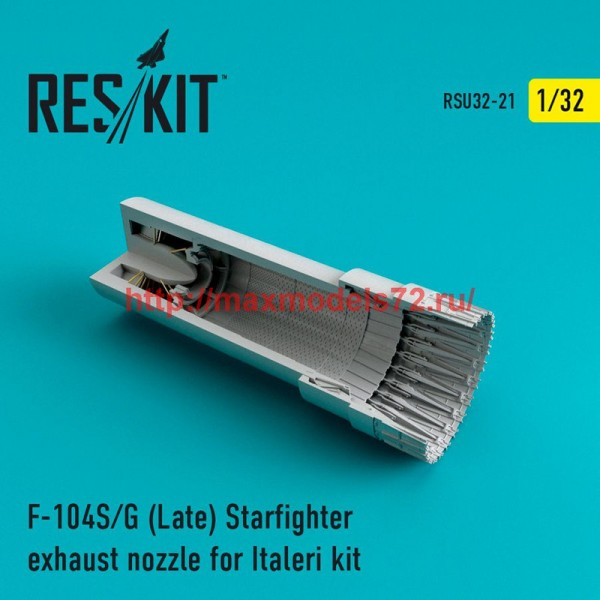 RSU32-021   F-104 Starfighter (S/G Late) exhaust nozzle for Italeri Kit (thumb47605)