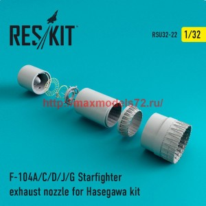 RSU32-022   F-104 Starfighter (A/C/D/J/G) exhaust nozzle for Hasegawa Kit (thumb47607)