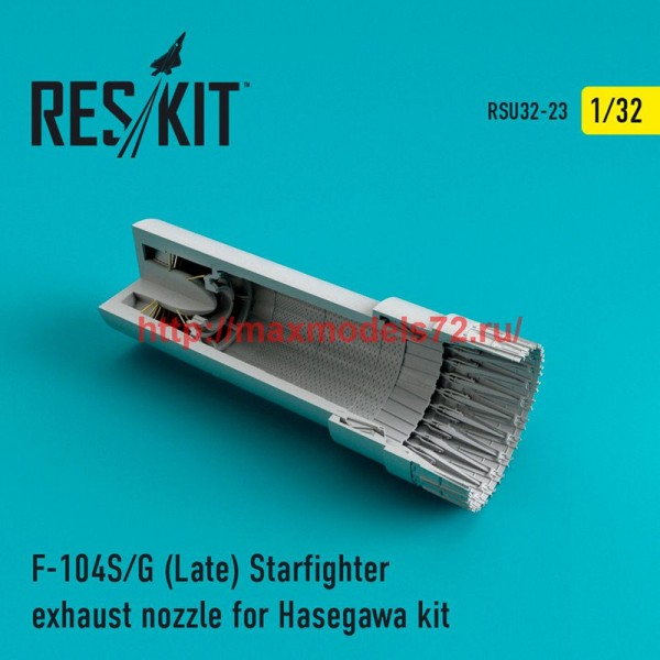 RSU32-023   F-104 Starfighter (S/G Late) exhaust nozzle for Hasegawa Kit (thumb47609)