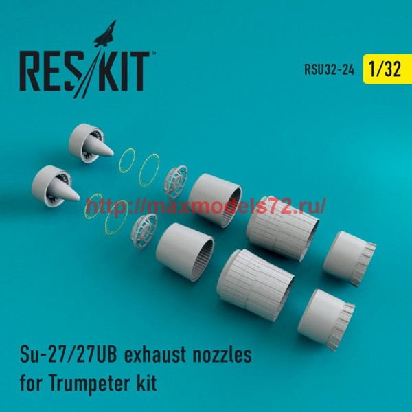RSU32-024   Su-27/27UB exhaust nozzles for Trumpeter Kit (thumb47611)