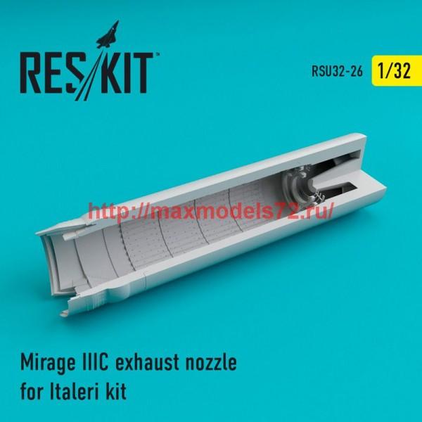 RSU32-026   Mirage IIIC exhaust nozzle for Italeri Kit (thumb47615)