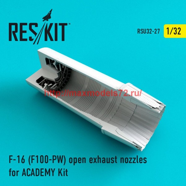 RSU32-027   F-16 (F100-PW) open exhaust nozzles for ACADEMY Kit (thumb47617)