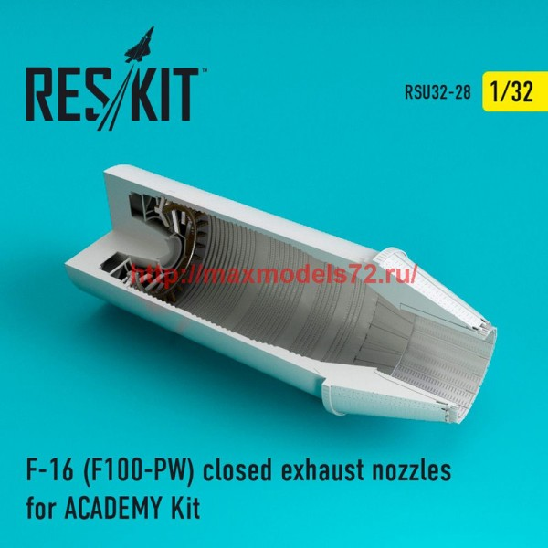RSU32-028   F-16 (F100-PW) closed exhaust nozzles for  ACADEMY  Kit (thumb47619)