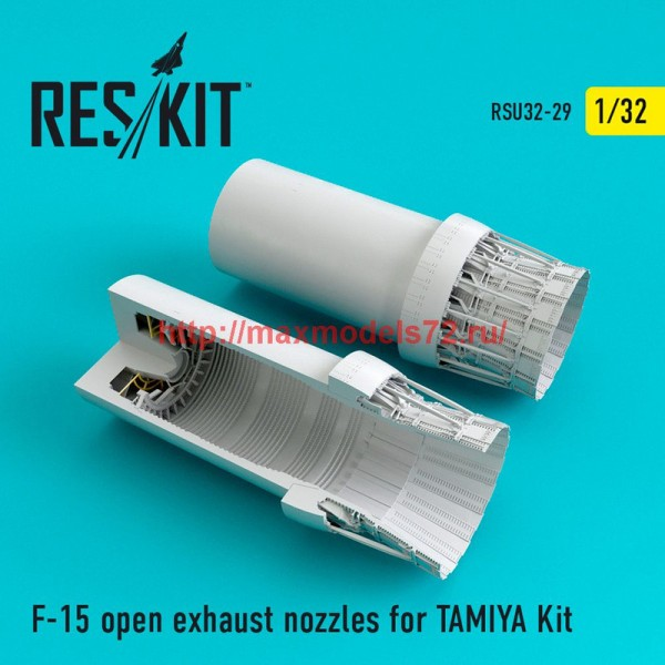RSU32-029   F-15 open exhaust nozzles for TAMIYA Kit (thumb47621)