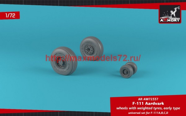 AR AW72337   1/72 F-111 Aardvark early type wheels w/ weighted tires (thumb49126)