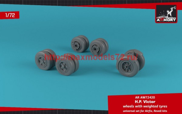 AR AW72420   1/72 H.P. Victor wheels w/ weighted tires (thumb49131)