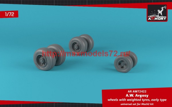 AR AW72422   1/72 A.W. Argosy wheels w/ weighted tires, early version (thumb49141)