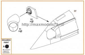 CPA72021   UH-2 A/B SEASPRITE resin exhaust (attach2 48219)