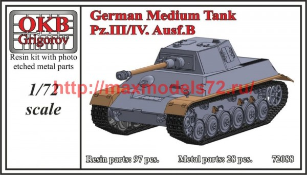 OKBV72088   German Medium Tank Pz.III/IV, Ausf.B (thumb50466)
