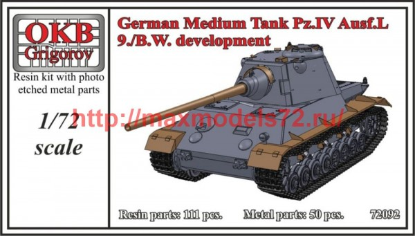 OKBV72092    German Medium Tank Pz.IV Ausf.L, 9./B.W. development (thumb50495)