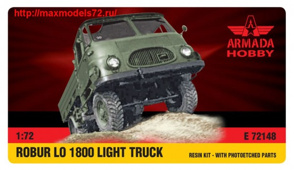 AME72148   ROBUR LO1800 Light Truck Resin kit w. PE set (thumb48462)