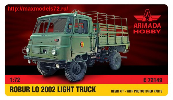 AME72149   ROBUR LO 2002 Light Truck Resin kit w. PE set (thumb48464)