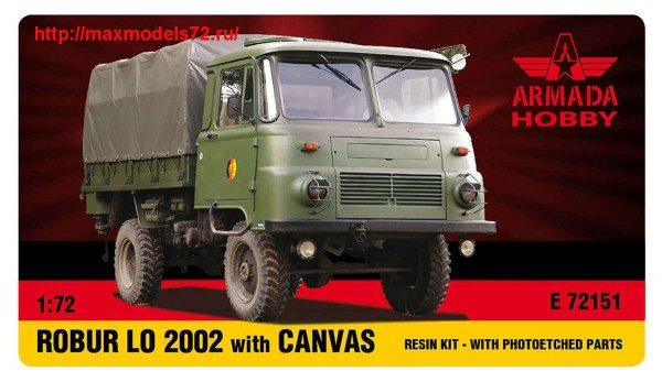 AME72151   ROBUR LO 2002 Light Truck w. CANVAS Resin kit w. PE set (thumb48468)