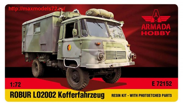AME72152   ROBUR LO 2002 KOFFERFAHRZEUG Resin kit w. PE set (thumb48470)