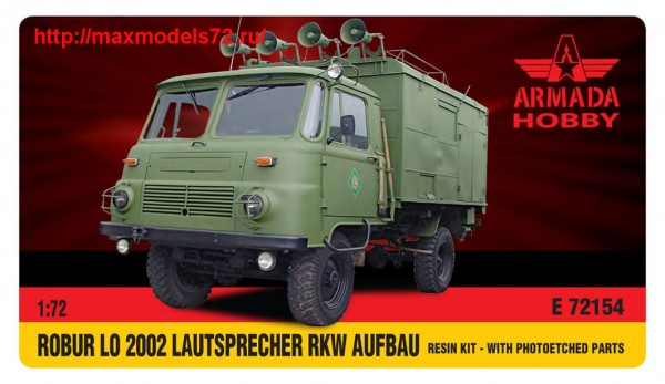 AME72154   ROBUR LO 2002 LAUTSPRECHER RKW Resin kit w. PE set (thumb48474)