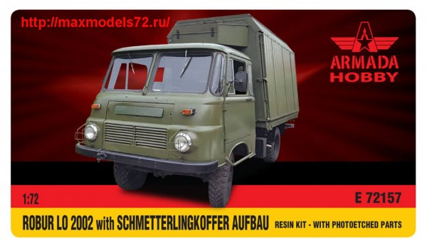 AME72157   ROBUR LO 2002 with Schmetterlingkoffer Resin kit w. PE set (thumb48476)
