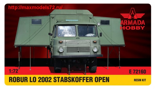 AME72160   ROBUR LO 2002 with STABSKOFFER OPEN Resin kit w. PE set (thumb48482)