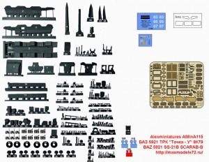 "AMinA115   БАЗ 5921 ТРК ""Точка - У"" 9К79   BAZ 5921 SS-21B SCARAB-B (attach1 48306)"