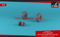 AR AW72337   1/72 F-111 Aardvark early type wheels w/ weighted tires (attach3 49126)
