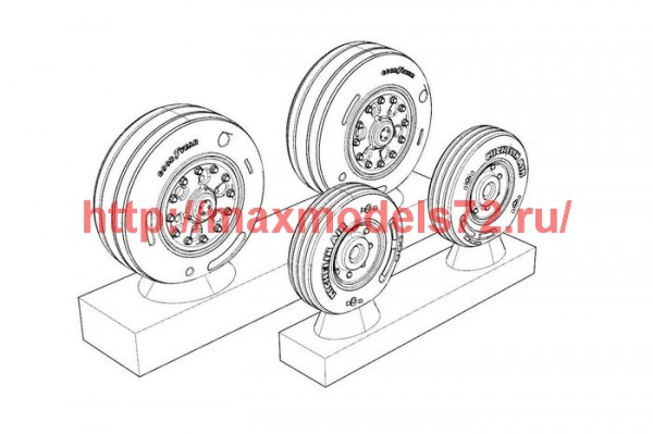 BRL48135   F/A-18 Wheels (thumb49372)