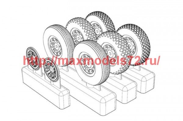 BRL72214   P-47N Wheels (3 type of pattern) (thumb49293)