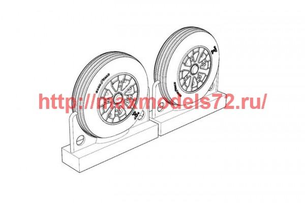 BRL72219   F4U Corsair Ribbed Thread Wheels set (thumb49312)