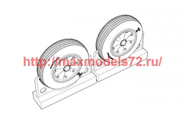BRL72222   F4U Corsair Late Ribbed Thread (late «50s) Wheels set (thumb49324)