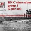 OKBN700135   RN C class submarine , group 2 (2 per set) (thumb50535)