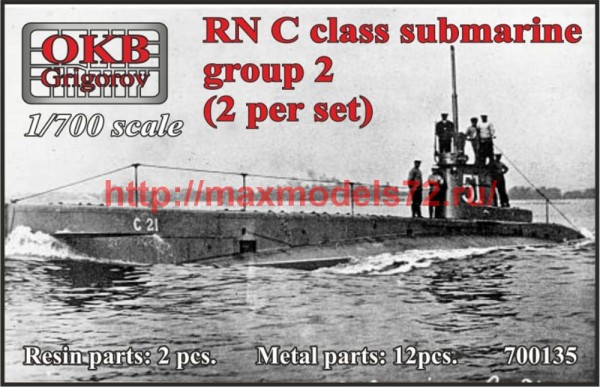OKBN700135   RN C class submarine , group 2 (2 per set) (thumb50535)